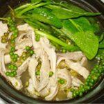 Cách làm món bao tử lợn om tiêu xanh.