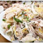 Cách làm món gõi gà bắp cải hành tây vừa đẹp vừa ngon