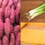 Cách làm khoai lang nướng mỡ hành phô mai bằng nồi chiên không dầu